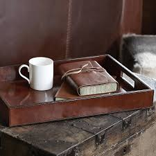 Classic Desk Accessories by Leather Oblong Tray By Life Of Riley Notonthehighstreet Com