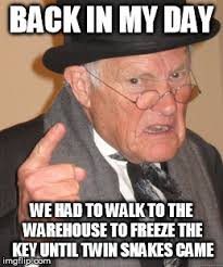 Warehouse Meme - back in my day meme imgflip