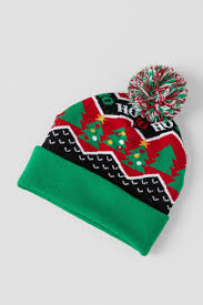 light up christmas tree beanie with pom hats u0026 gloves francesca u0027s