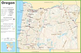 map of the oregon coast east asia physical map map of ga