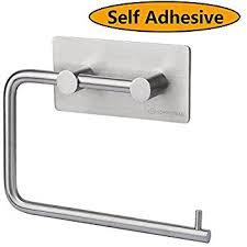 Amazon Com Kone Self Adhesive Toilet Paper Holder Storage