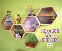 hexagon wall shelves woodworking pinterest shelves