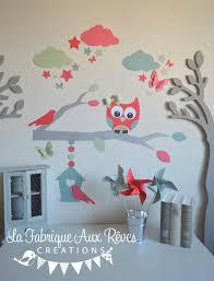 stickers décoration chambre enfant fille bébé branche cage à oiseau