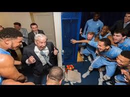 Unc Basketball Meme - carolina basketball locker room celebration post 76 72 win at