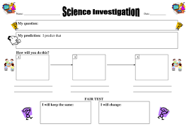 science report template ks2 worksheet for planning fair tests by pwilloughby3 teaching