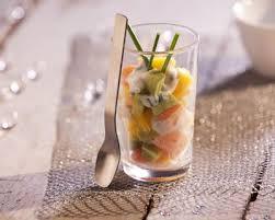 cuisine de a a z verrine recette verrines de tartare de saumon mangue et avocat