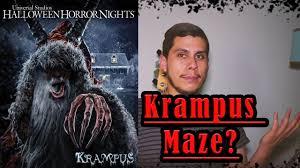 howl o scream vs halloween horror nights halloween horror nights 2016 update krampus maze youtube