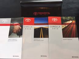 2016 toyota corolla owners manual set books w case oem free