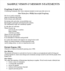 Value Statement Examples For Resumes by Sample Vision Statement Diversity Vision Statement Take A Look At