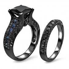 black diamond wedding set black diamond rings