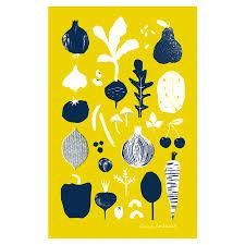 kitchen towel designs tea towel towel tea vegetables fruit screen print