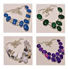 crystal necklace stone images Natural stone and crystal jewelry at rs 800 piece s crystal jpg