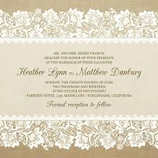 burlap and lace wedding invitations classic burlap lace vintage wedding invitations iwi264 burlap and