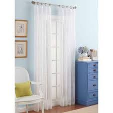 Embroidered Curtain Panels Better Homes And Gardens Embroidered Sheer Curtain Panel Walmart Com