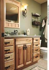 Brown Bathroom Cabinets by I Like This Blue But Not The Tile But Shows Us How It Works With