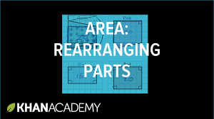 finding area by rearranging parts geometry 6th grade khan