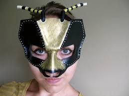 bee leather mask child or sizes masquerade mask