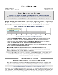 Sample Resume For Supply Chain Executive by Cio Sample Resume Chief Information Officer Resume It Resume
