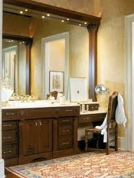 Traditional Bathroom Vanity by Bathroom Vanity With Built In Cabinets Around Mirrors Haute Home