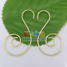 20 pcs silver plated premium swirl scroll ornament hooks