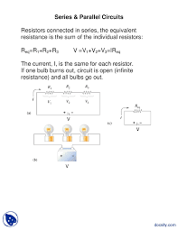 Household Electrical Circuit Diagrams Electric Circuit Series And Parallel Electrical Diagram