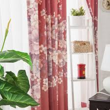 online shop 2015new cherry blossoms window curtains cotton