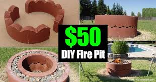 50 dollar fire pit diy and movable