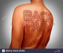 tattoo text arm back pain medical concept as text tattoo art on human skin as a