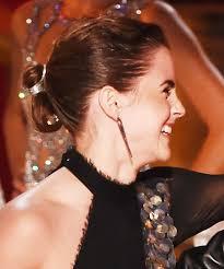 emma watson u0027s 2017 mtv movie u0026 tv awards ponytail instyle com