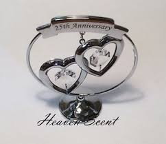 25th anniversary gifts 25th silver wedding anniversary gift ideas with swarovski crystals