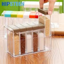 online buy wholesale kitchen storage jars from china kitchen hipsteen 6pcs set spice jar seasoning box kitchen spice storage bottle jars transparent pp salt