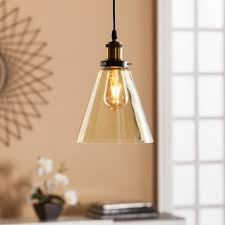 Amber Glass Pendant Lights by Tanaro Colored Glass Mini Pendant Lamp Champagne Amber