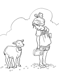 mary lamb coloring free printable coloring pages