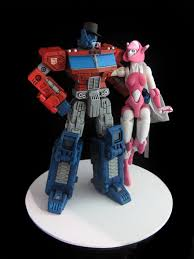 optimus prime cake topper optimus prime elita one wedding cake topper can you say awesome