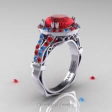 topaz engagement ring caravaggio 14k white gold 3 0 ct ruby blue topaz engagement ring
