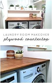 how to install base cabinets in laundry room laundry room makeover diy plywood countertop laundry room
