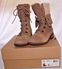 ugg womens cargo boots ugg australia gradin chestnut suede sheep wool convertible