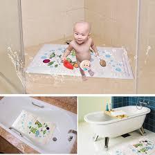 Kids Bathtub Mat Cartoon Animal Bath Mat For Kids Temperature Sensor Non Slip