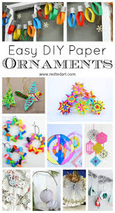 paper christmas ornament diy ideas paper christmas ornaments
