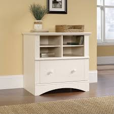 Wood Filing Cabinet Lateral 1 Drawer Lateral Wood File Cabinet In Antique White 158002 Antique