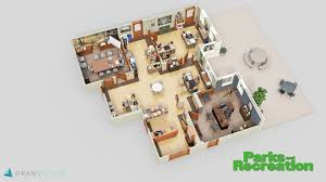 Floor Plan Image Famous Tv Shows Brought To Life With 3d Plans Drawbotics