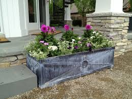 steel planter boxes dirt simple