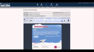 icontact pro create a template email youtube