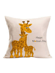 s day giraffe 2018 giraffe happy s day pillow white cm in