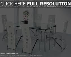 Modern Glass Dining Table Set Modern Glass Dining Room Table Round Glass Dining Table And Chairs