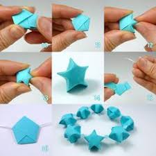 Paper Craft Steps - origami elephants on a spiral 8 x elephants lucky hearts and