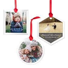 glass round photo ornament christmas ornaments and decor gifts