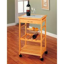 neu home natural kitchen cart with wine rack 34131w 1 the home depot