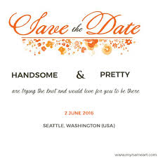 online save the date write and groom name on marriage invitations cards online
