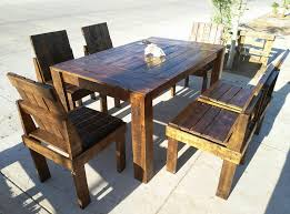 Pallet Dining Room Table Wooden Pallet Dining Table And Chairs Set 99 Pallets